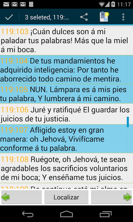Spanish Bible RVR - screenshot