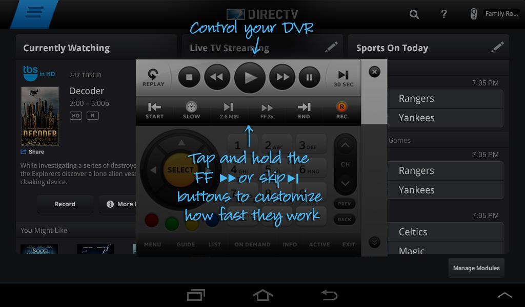 DIRECTV for Tablets - screenshot
