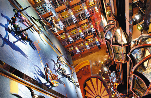 Costa-Mediterranea-atrium - The view from Costa Mediterranea's beautiful 10-deck-high atrium.