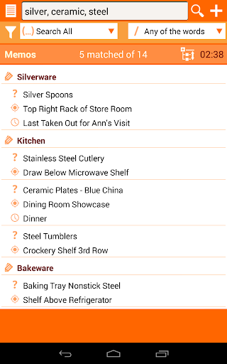 Home Inventory: Quick memo app to help find stuff. Screenshot