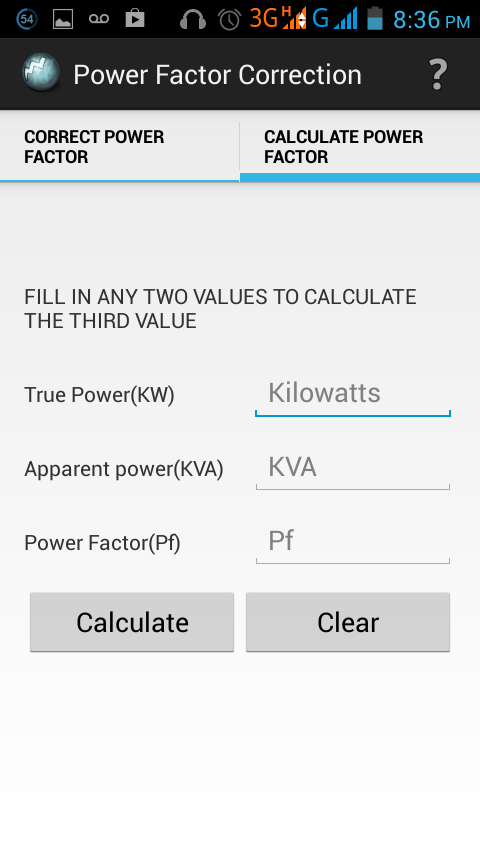 Power Factor Correction- screenshot