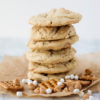 Pretzel Marshmallow Peanut Butter Chip Cookies [Week 5 of 12 Weeks of Christmas Cookies]
