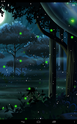 Firefly Forest Live Wallpaper