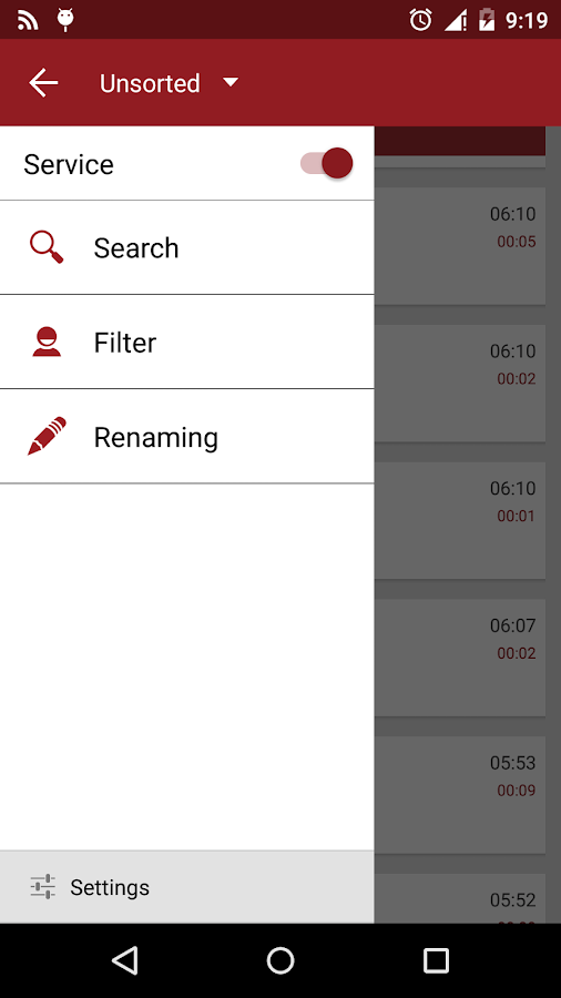 RMC: Android Call Recorder- 스크린샷