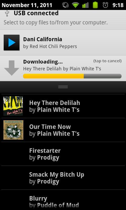 BluePlaylist Music Player- screenshot
