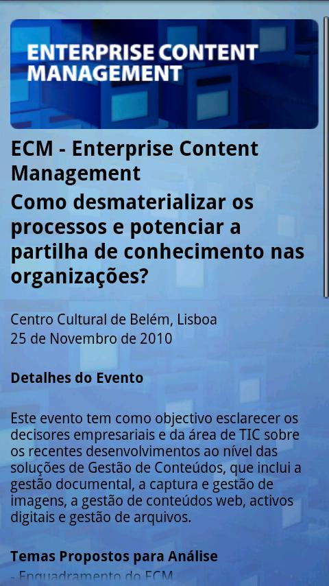 IDC ECM by Javali - screenshot