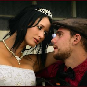 Loving Stare by Richard Wicht - Wedding Bride & Groom ( love, wedding, couple, people, pretty,  )