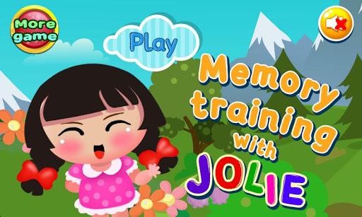 記憶訓練遊戲的女孩