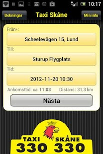 Taxi Skåne - screenshot thumbnail