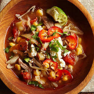 Slow-Cooked Beef Pozole.