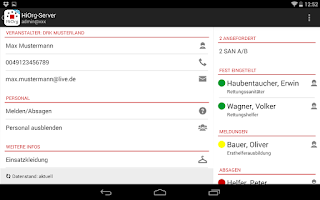 Screenshot of HiOrg-Server