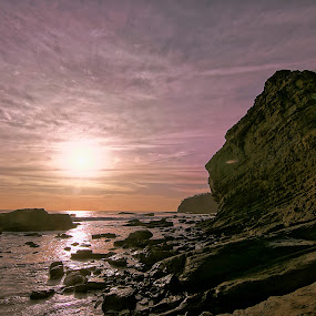 Sunset in San Juan by Siggy In Costa Rica - Landscapes Sunsets & Sunrises ( sky, hdr, sunset, rocky, ocean, coast,  )