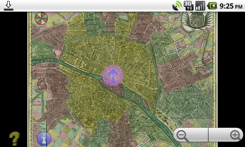 Offline GPS Paris 1760- screenshot