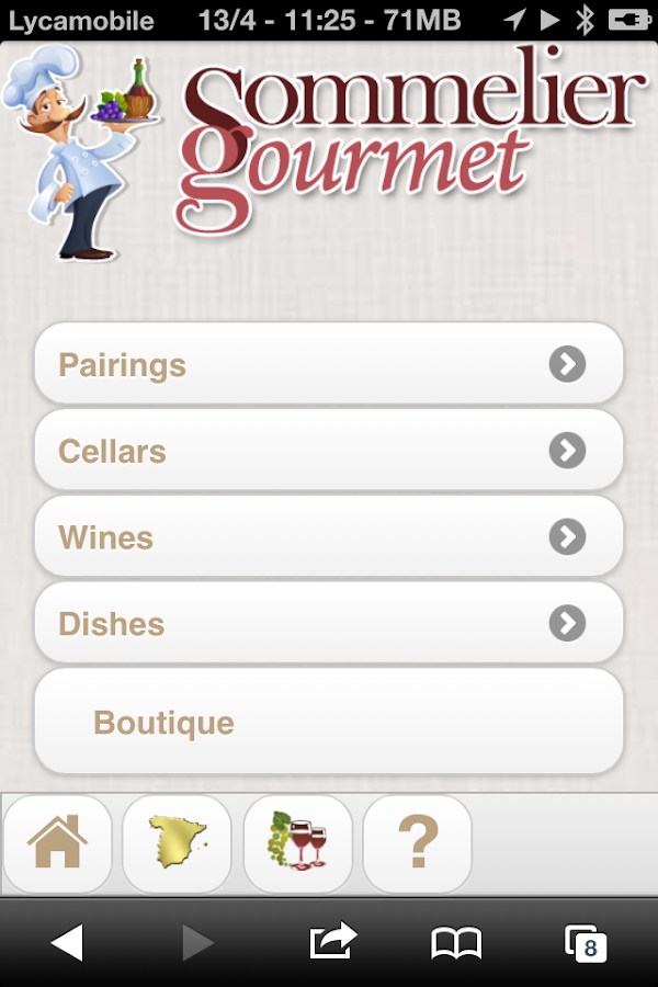 Sommelier Gourmet- screenshot