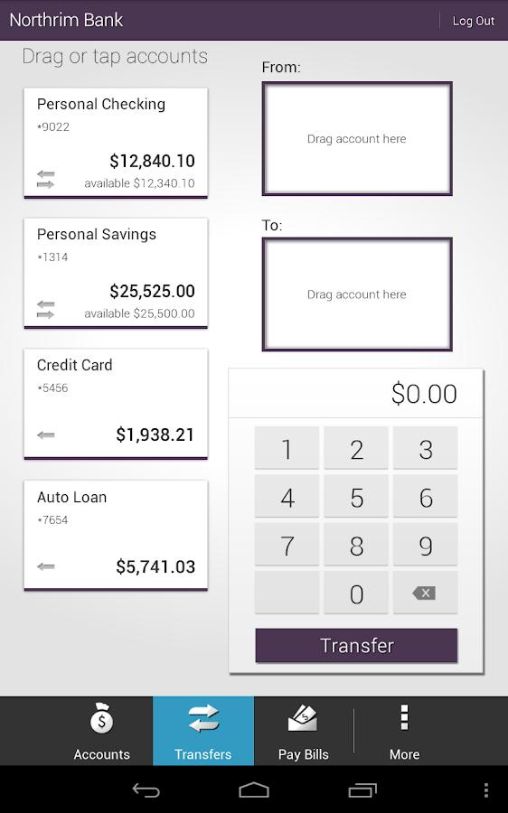 Northrim Bank - Mobile Banking - screenshot
