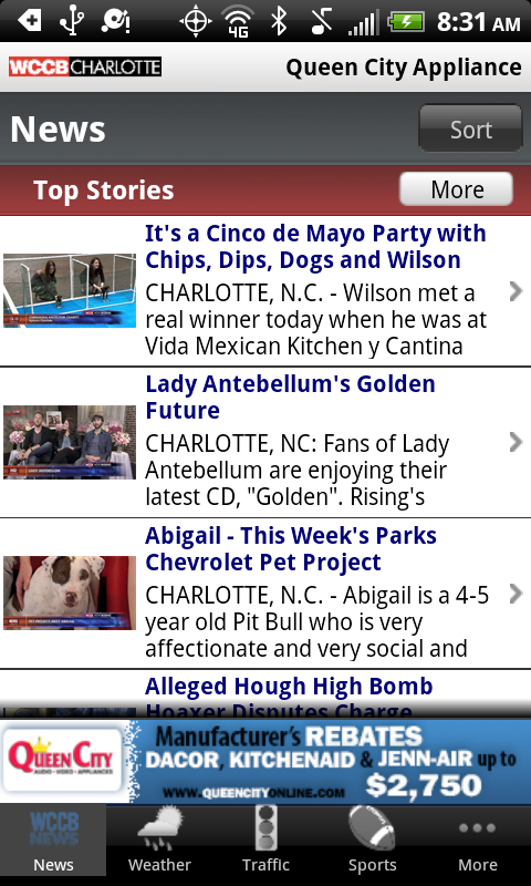 WCCB Charlotte - screenshot