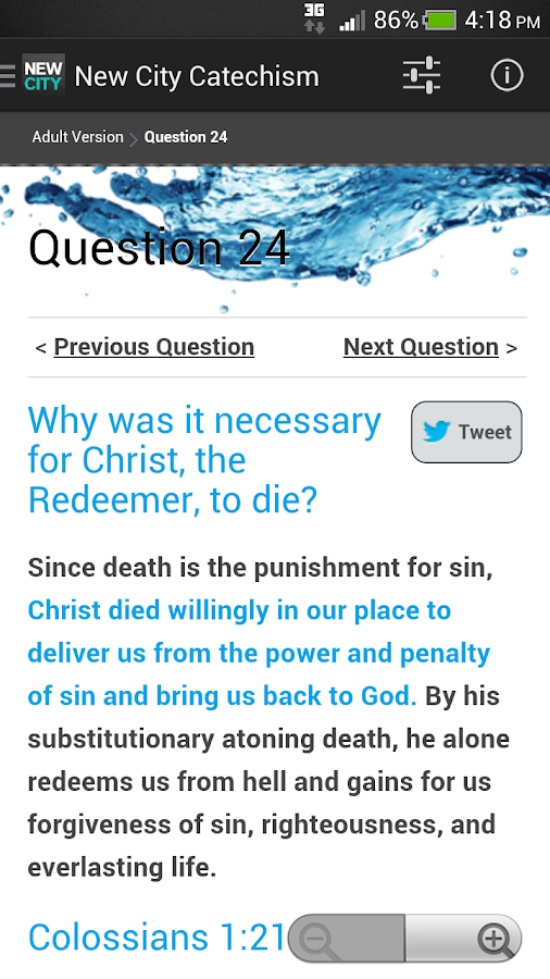 New City Catechism- screenshot