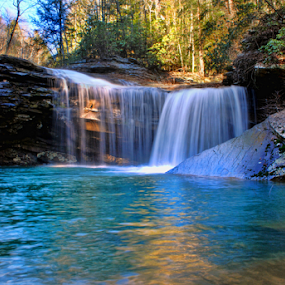Little Possum Falls by Steve Rogers - Landscapes Waterscapes ( cumberland, cascade, waterfall, tennessee, cumberland trail )