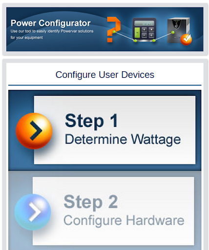 Powervar Configurator