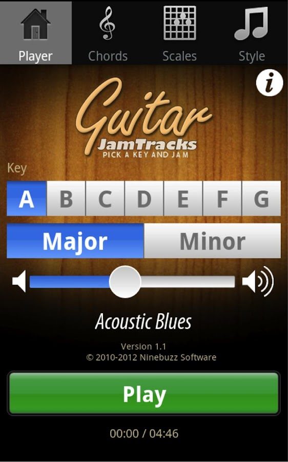 Guitar Jam Tracks Scales Buddy- screenshot