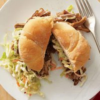 Pulled Pork-and-Slaw Sandwiches.
