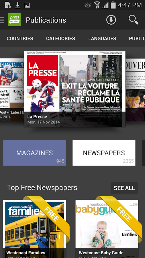 PressReader - screenshot