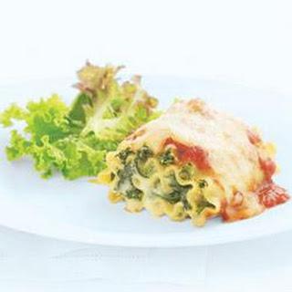 Spinach Lasagna Rolls.