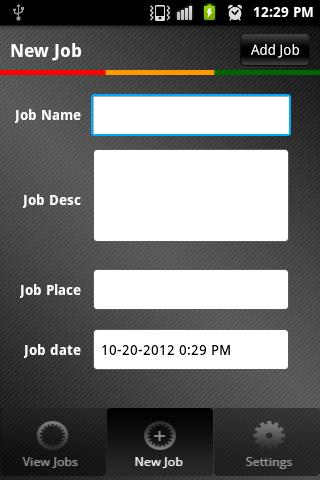 Field Job Reporting - screenshot