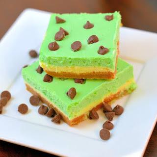 Glowing Green Leprechaun Cheesecake Bars