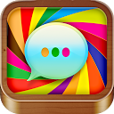 Color SMS Text Message Friends mobile app icon