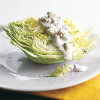 Iceberg Wedge with Blue Cheese Dressing.