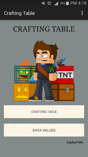 Crafting Table for Minecraft for PC
