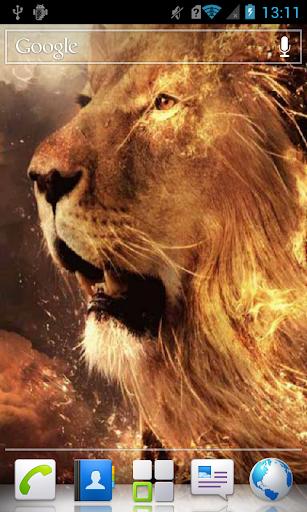Lion in Fiery Sparks LWP