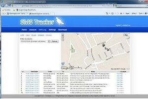 Screenshot of SMS Tracker