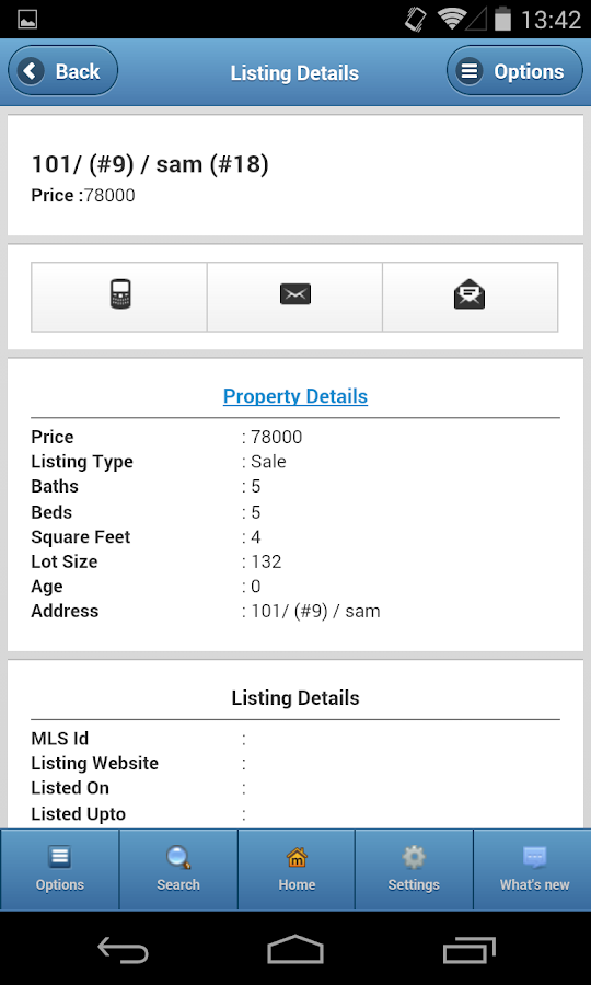 BizKinetic Real Estate CRM - screenshot