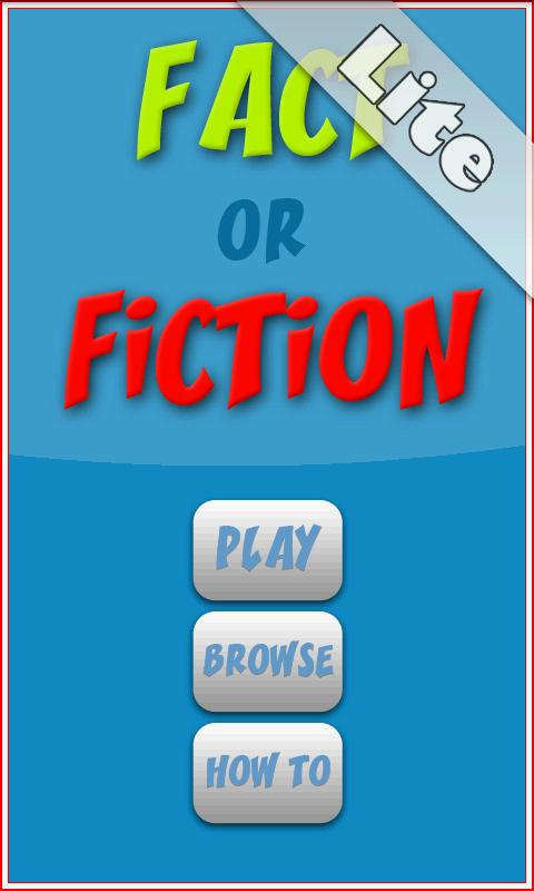 Fact or Fiction Lite- screenshot
