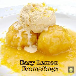 Easy Lemon Dumplings.