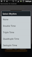 Screenshot of Metronome for Android