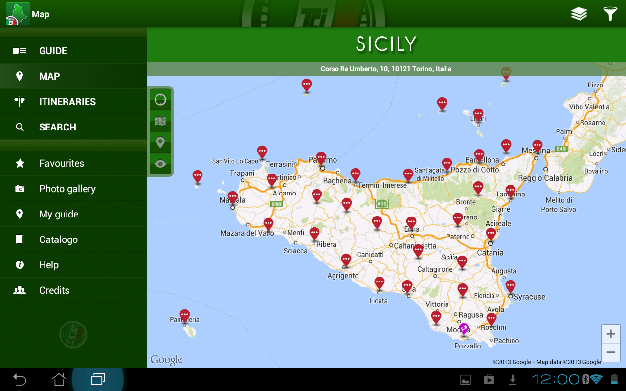 Sicily Guida Verde Touring Android Apps on Google Play – Sicily Tourist Map