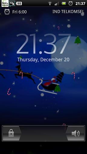 冬天圣诞节前夕圣诞老人 LWP