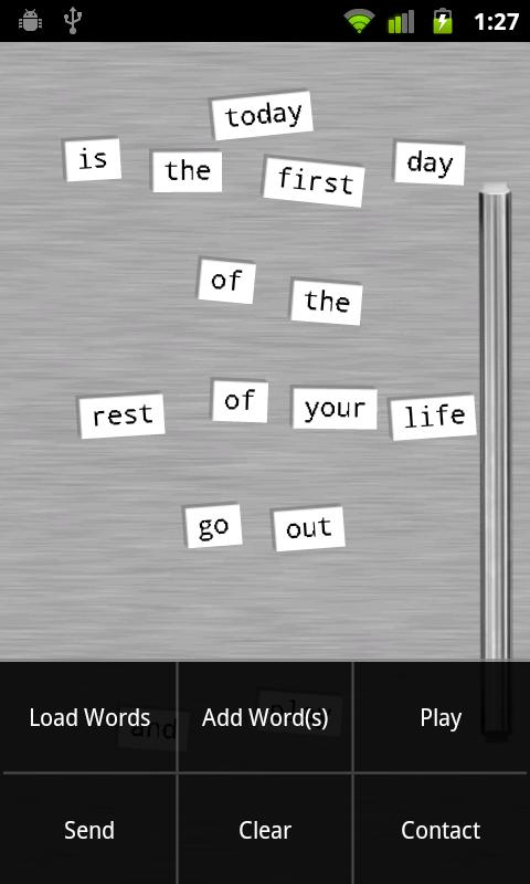 Refrigerator Poetry - Free - screenshot