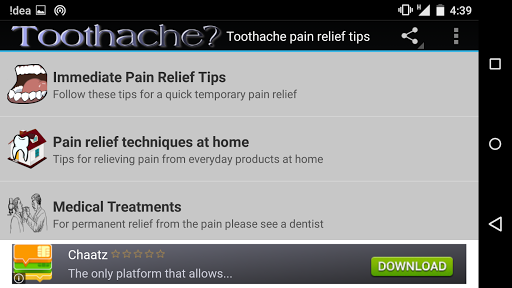 Toothache pain relief tips