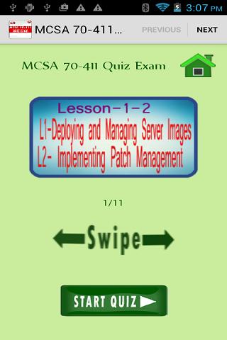 MCSA 70-411 Quiz Exam Free