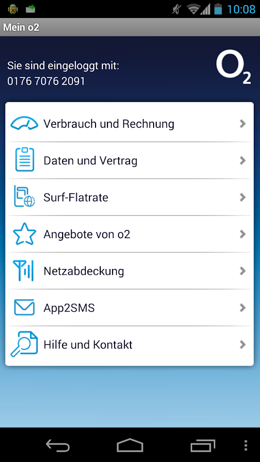 Mein o2 - screenshot