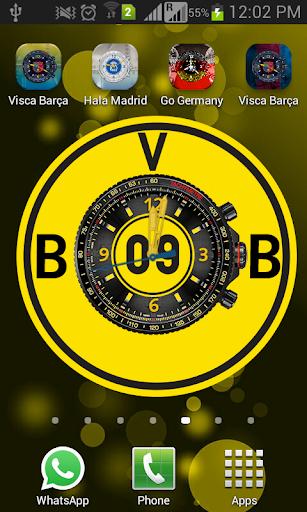 Borussia Clock Live Wallpaper