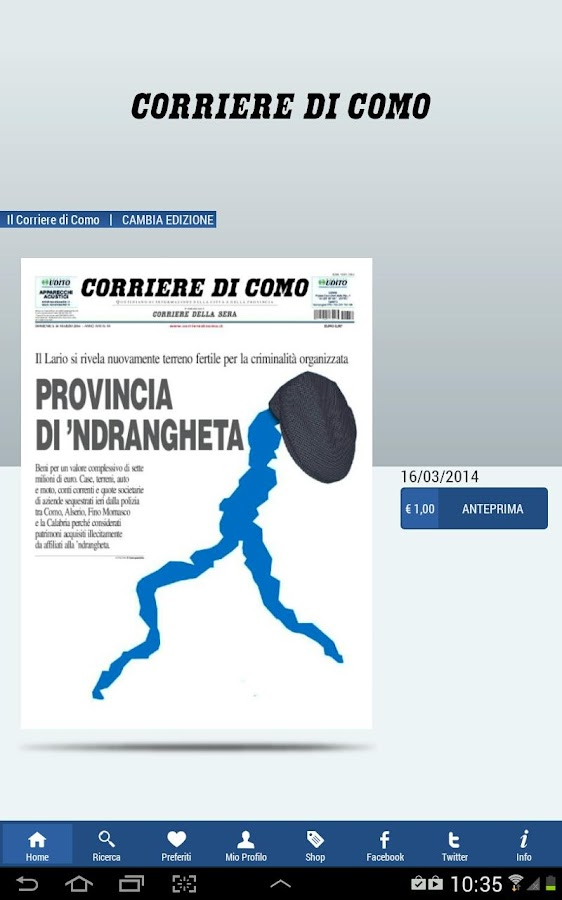 Corriere di Como - screenshot