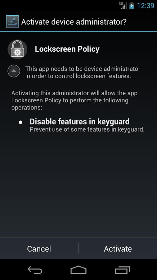 Lockscreen Policy (<= KitKat)- screenshot