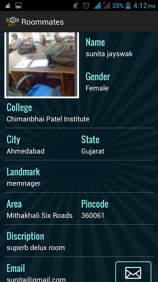Roommate Finder- screenshot