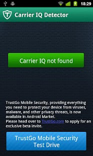 TrustGo Carrier IQ Detector - screenshot thumbnail