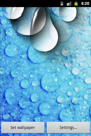 WATER DROPS LIVE WALLPAPER HD